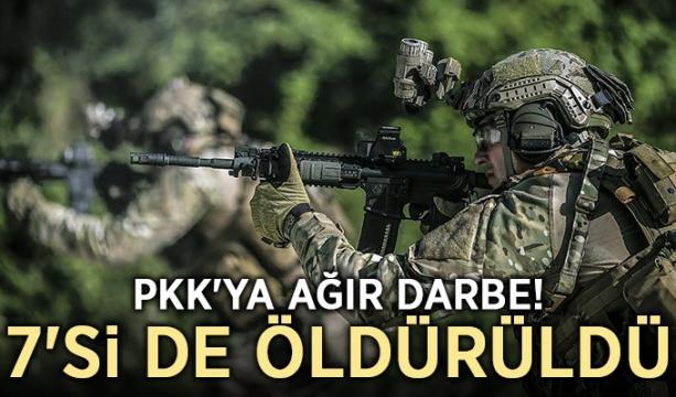 PKK'ya ağır darbe! 7'si de öldürüldü...