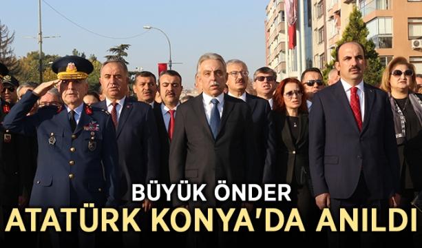 Büyük Önder Atatürk Konya'da anıldı