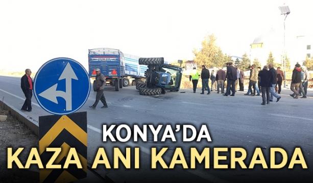 Konya'da kaza anı kamerada