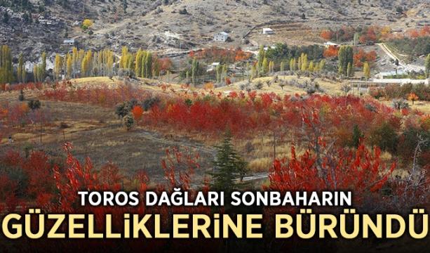 Toros Dağları sonbaharın güzelliklerine büründü