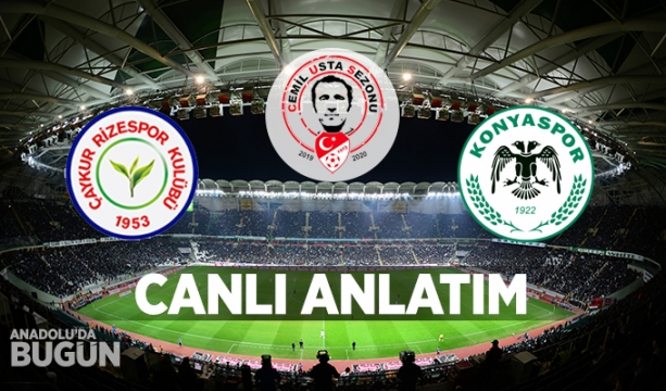 Çaykur Rizespor - İH Konyaspor CANLI ANLATIM