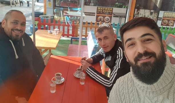 Dostlar ile kahve keyfi