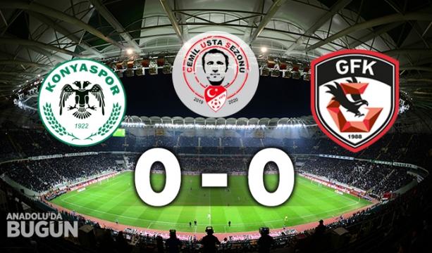 İH Konyaspor 0 - 0 Gaziantep FK Maç Sonucu