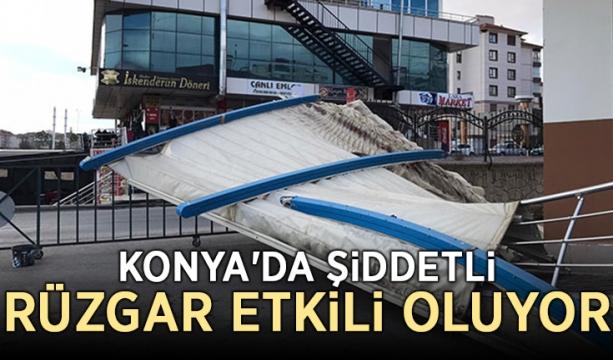Konya'da şiddetli rüzgar etkili oluyor