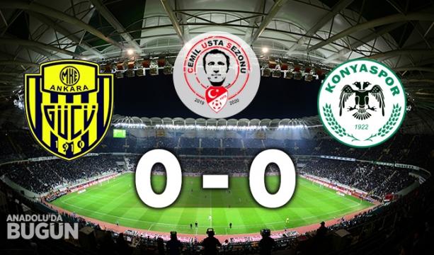 MKE Ankaragücü 0 - 0 İH Konyaspor İLK YARI SONUCU