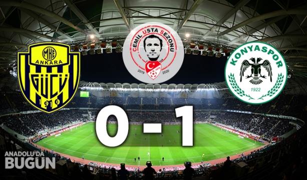 MKE Ankaragücü 0 - 1 İH Konyaspor MAÇ SONUCU
