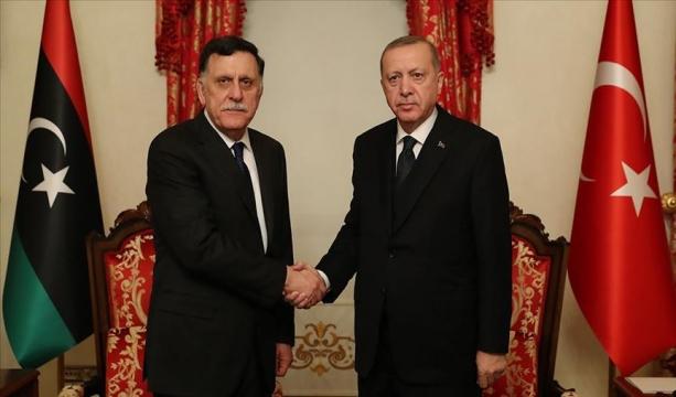 Cumhurbaşkanı Erdoğan, Libya UMH Başkanlık Konseyi Başkanı Sarraj'ı kabul etti