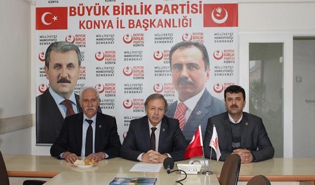 BBP Konya'dan  çözüm önerisi