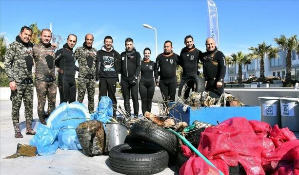 Gözde turizm merkezi Bodrum'un mavi suları gönüllü dalgıçlara emanet
