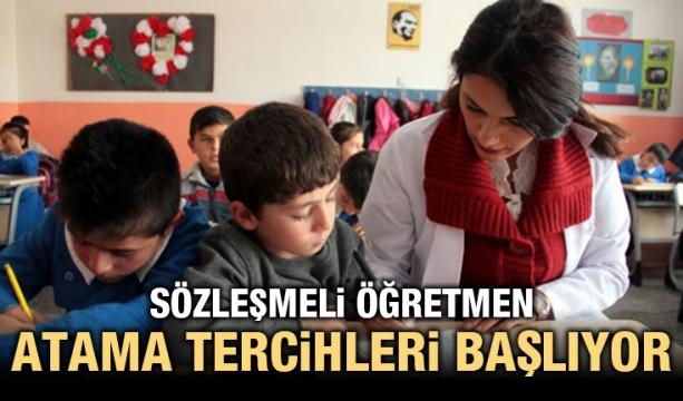 Sözleşmeli öğretmen atama tercihleri başlıyor