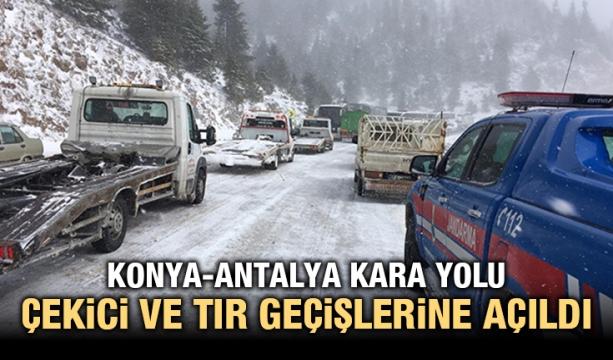 Konya-Antalya kara yolu çekici ve tır geçişlerine açıldı