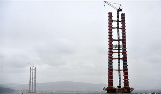 'Simgelerin köprüsü'nde kule yüksekliği 230 metreye ulaştı