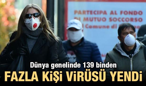 Dünya genelinde 139 binden fazla kişi virüsü yendi