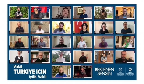 Ünlü isimlerden 'Vakit Türkiye İçin İyilik Vakti' kampanyasına destek