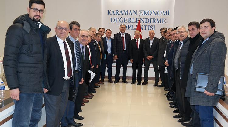 Karaman ekonomi değerlendirme toplantısı yapıldı