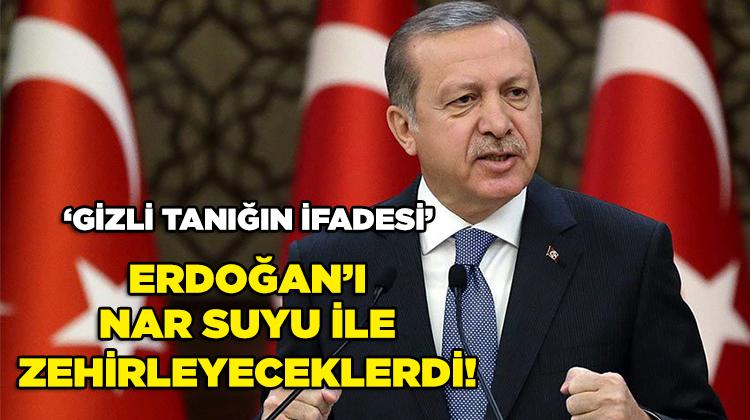 Gizli tanık: Erdoğan'ı nar suyu ile zehirleyeceklerdi