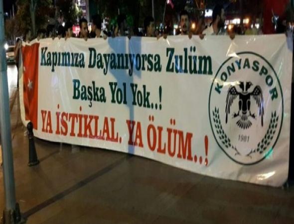 Atiker Konyaspor taraftarı demokrasi nöbetinde!