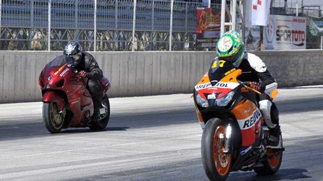Konya'da motodrag heyecanı