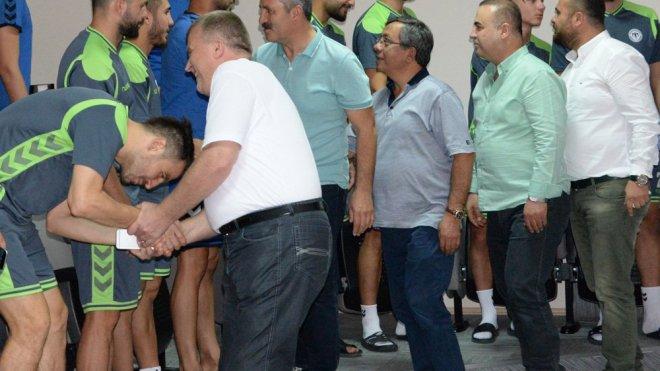 Atiker Konyaspor'da bayramlaşma töreni yapıldı