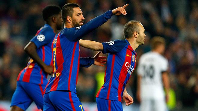Arda Turan hat-trick yaptı, Barcelona çoştu