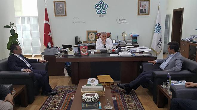 Başkan Karakap'tan Rektör Şeker'e ziyaret