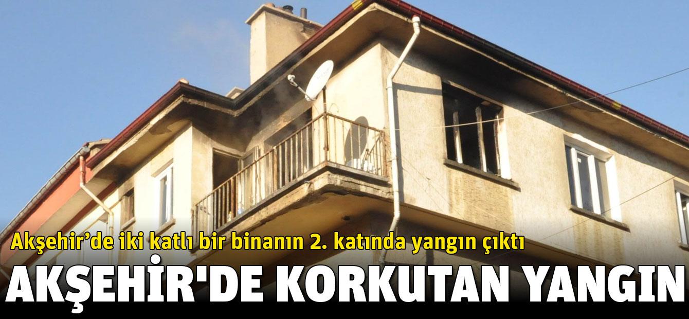 Akşehir'de Korkutan Ev Yangını