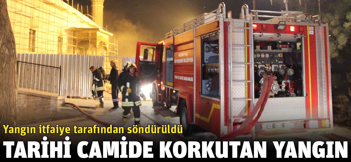Konya Alaeddin Camisi'nde korkutan yangın