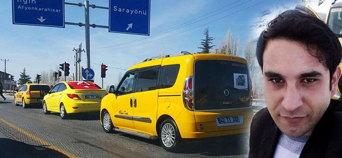 Konyalı taksiciler meslektaşını unutmadı
