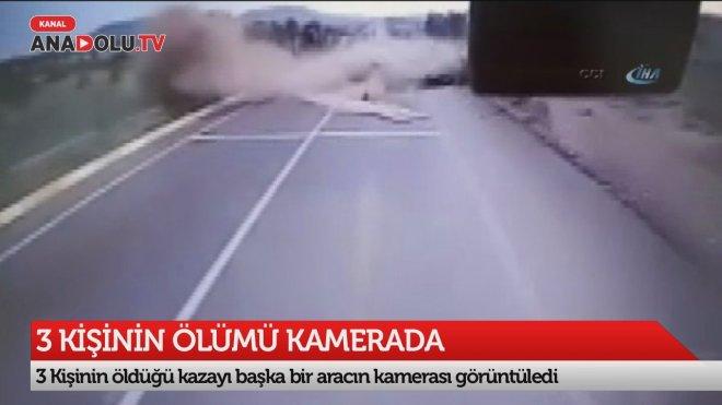 3 kişinin can verdiği kaza kameraya yansıdı