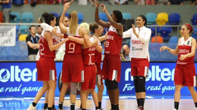 A milli bayan basketbol takımı çeyrek finalde