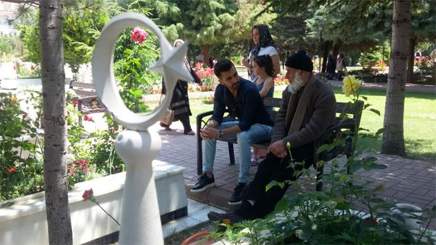 Konya'da şehitliklere bayram ziyareti
