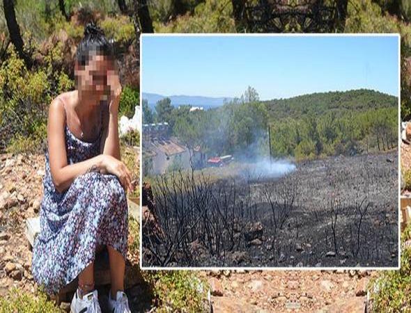 Ayvalık Adaları Tabiat Parkı'ndaki yangın ucuz atlatıldı