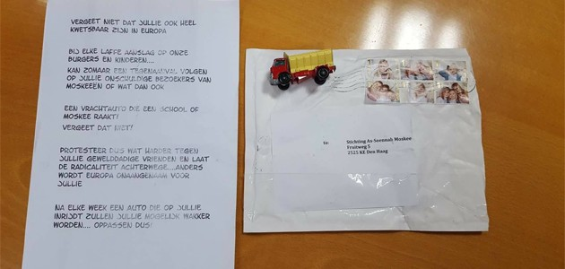 Hollanda'da islamafobik mektup ortalığı ayağa kaldırdı