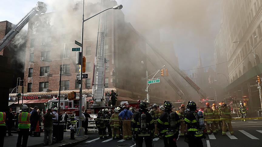 New York'ta korkutan yangın