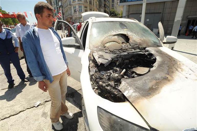 Taksim'de panik anları