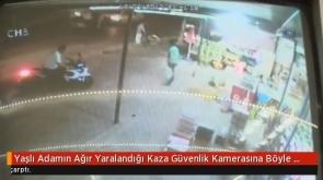 Konya'da bir minibüs yaşlı adama çarptı.