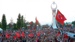 Beştepe'de 15 Temmuz anıtı açıldı