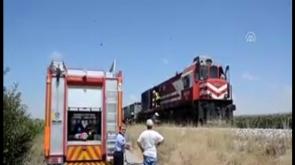 Karaman'da Lokomotif Yangını