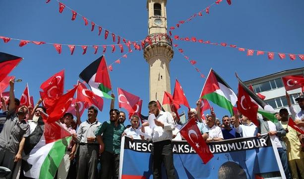 İsrail'in Mescid-i Aksa'ya yönelik ihlallerine büyük tepki