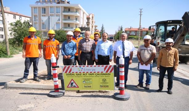 Beyşehir'de doğalgaz çalışmaları başladı