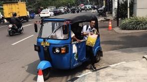 Endonezya'da trafiğe çözüm 'bajai'ler