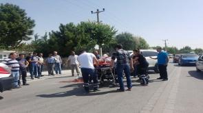 Meram Yaka caddesinde feci kaza