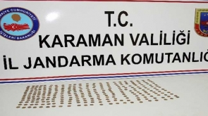 Karaman'da çok sayıda sikke ele geçirildi