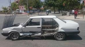 Konya'da ilginç kaza