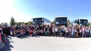 137 kız öğrenci Silifke'ye götürüldü
