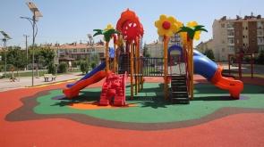 Selçuklu'da çocuk oyun grupları revize ediliyor #konyahaber