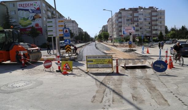 Konya Ereğli'de İstasyon Caddesi yenileniyor #Konyahaber