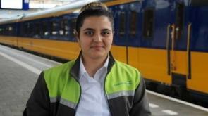 Hollanda'nın en genç bayan tren makinisti Konyalı #konyahaber