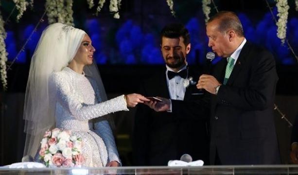 Cumhurbaşkanı Erdoğan, nikah şahidi oldu!