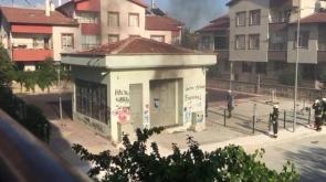 Konya'da trafo yandı #konyahaber
